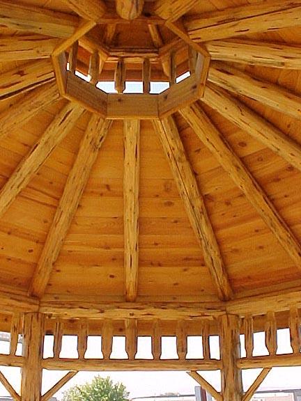 10x10 octagon log gazebo kilmer creek amish crafted gazebos for Octagonal log cabin plans