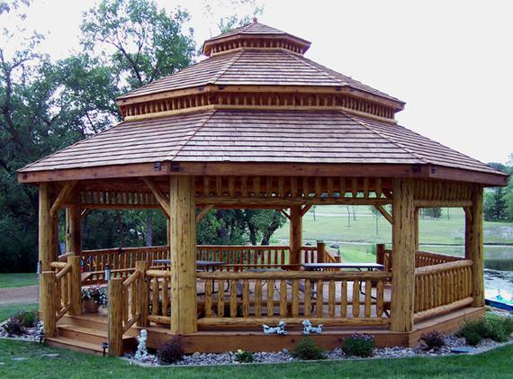 Amish Red Cedar Gazebo