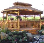 Amish Log Gazebo
